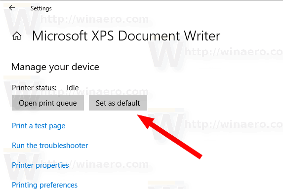 Windows 10 Set Default Printer
