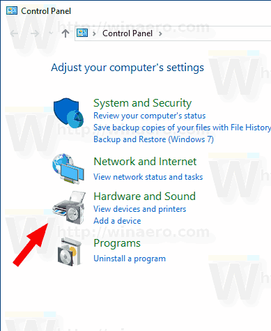 Windows 10 Hardware And Printers Icon
