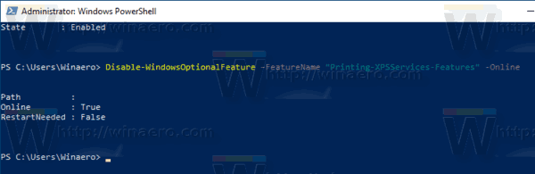 Windows 10 Powershell Optional Features Remove Feature