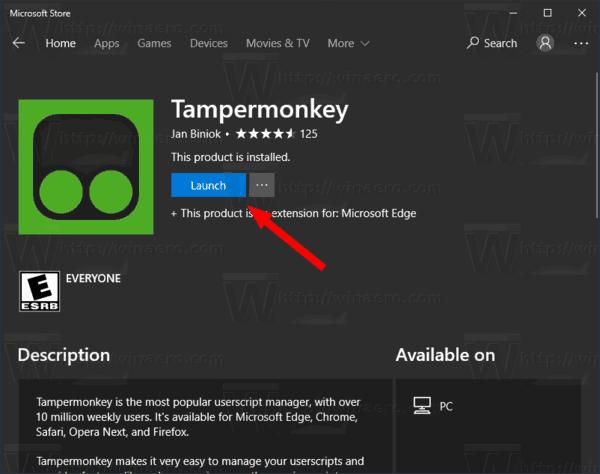 Edge Launch Tampermonkey