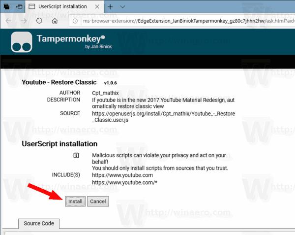 Edge Youtube User Script For Tampermonkey 2