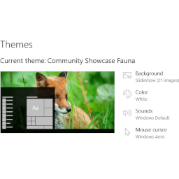 Fauna Theme for Windows 10, Windows 8 and Windows 7