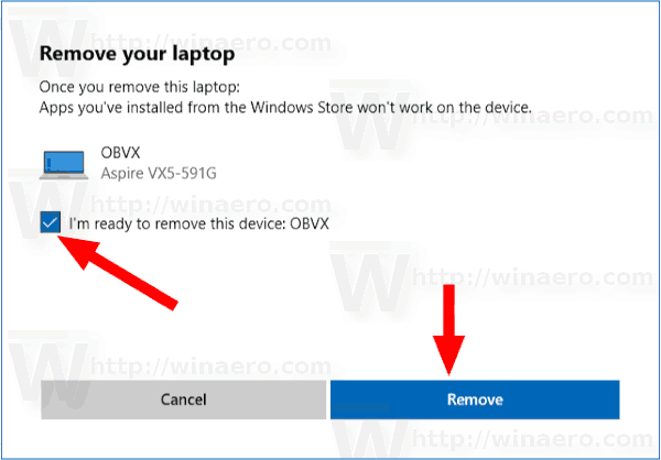 Remove Windows 10 Device from Microsoft Store Account