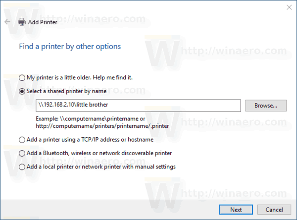 Windows 10 Add Shared Printer By Ip