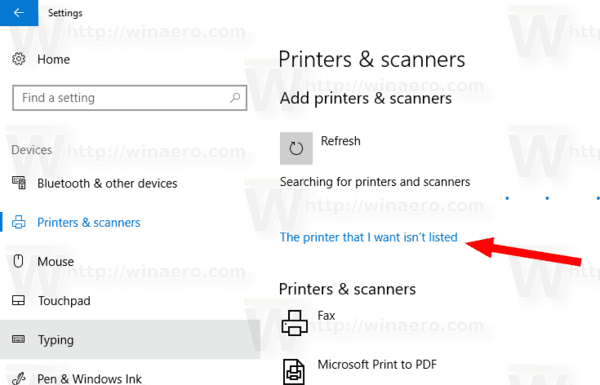 Windows 10 Add Shared Printer Link