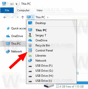 Windows 10 Change Control Panel Icon 1