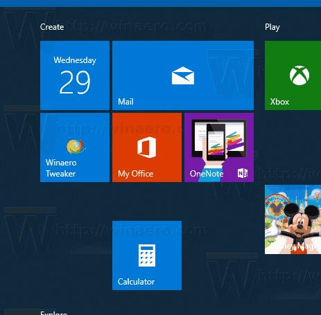 Windows 10 Create New Tile Group 2