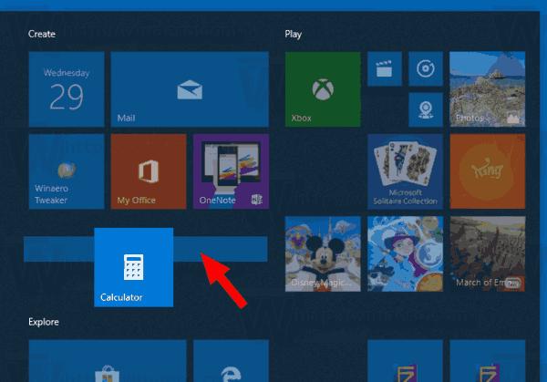 Windows 10 Create New Tile Group