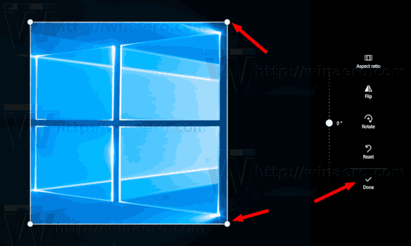 Windows 10 Crop Image With Photos 3