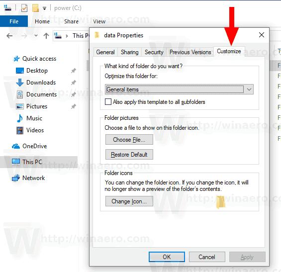 Windows 10 Remove Customize Tab