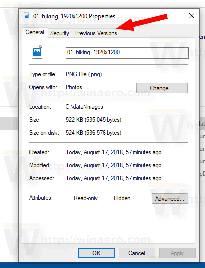 Windows 10 Removed Details Tab