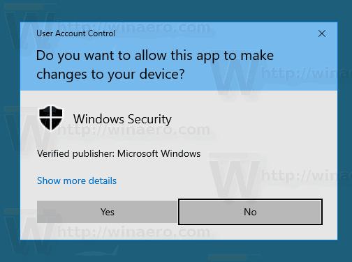 Windows 10 SmartScreen UAC Prompt