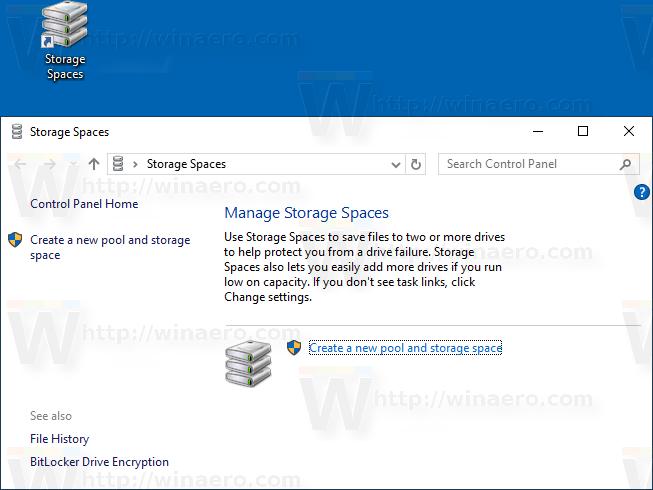 Windows 10 Storage Spaces