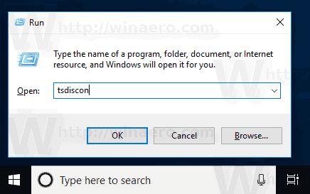 Windows 10 TsDiscon Switch User