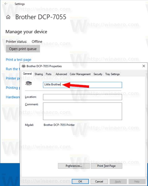 Windows 10 Rename A Printer