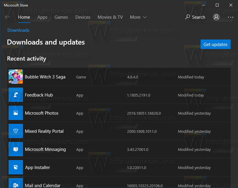Ms Windows Store Updates
