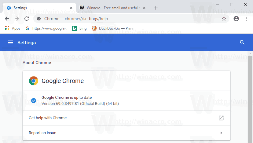 Chrome 69 Material Design