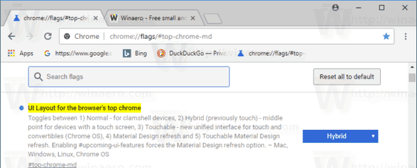 Chrome 69 Top Md Hybrid