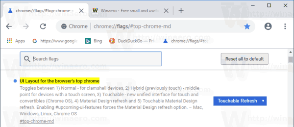 Chrome 69 Top Md Touchable Refresh