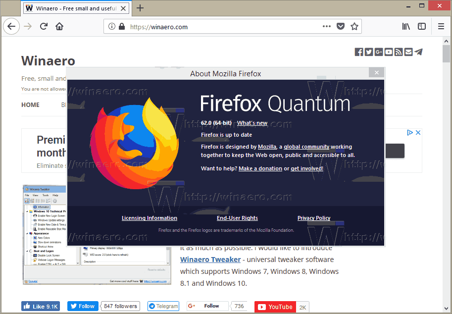 Firefox 62 About