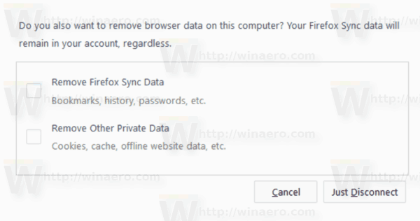 Firefox 62 Disconnect Sync