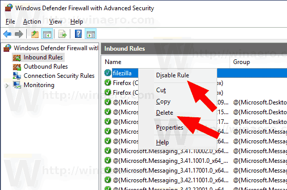 Firewall Delete Rule