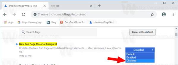 Google Chrome Disable New Tab Page