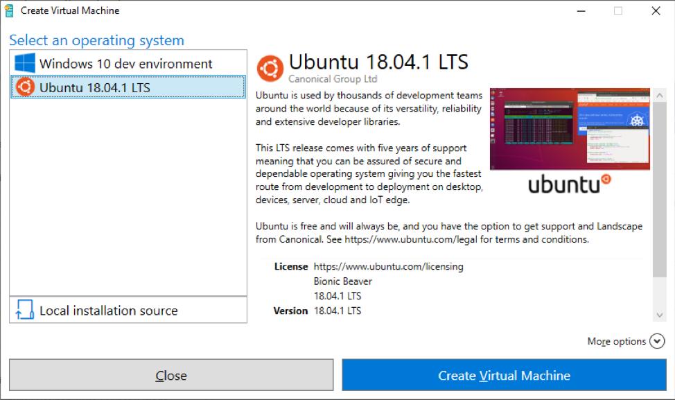Hyper V Quick Setup Ubuntu