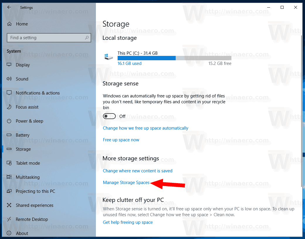 Manage Storage Spaces Pool