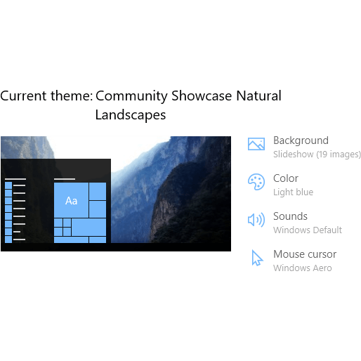 Natural Landscapes theme for Windows 10, Windows 8 and Windows 7