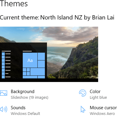 North Island theme for Windows 10, Windows 8 and Windows 7