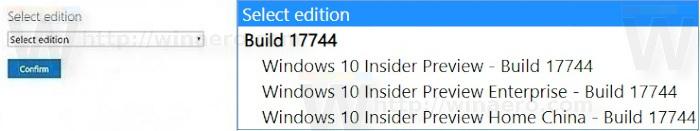 Windows 10 Build 17744 ISO Download