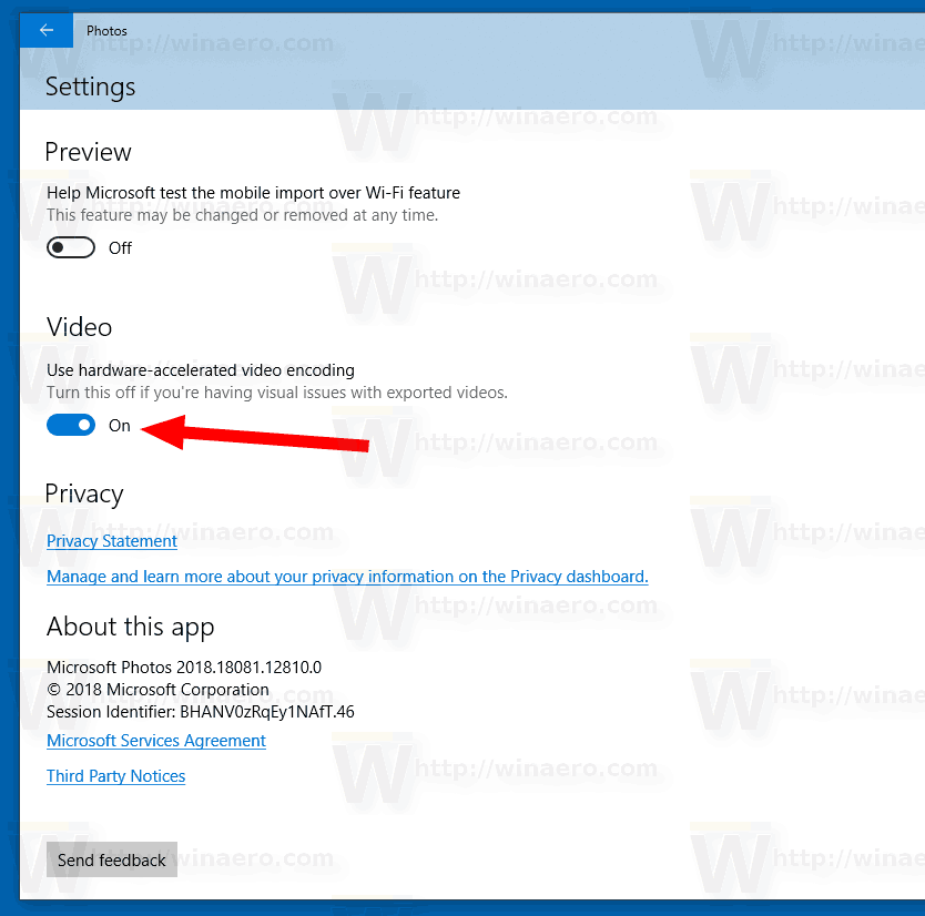 Windows 10 Photos Disable Hardware Acceleration