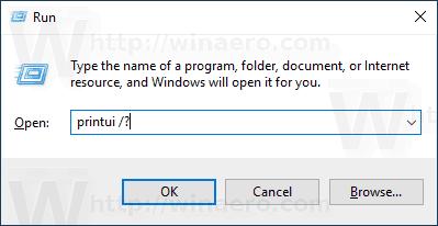 Windows 10 PrintUI Open Help
