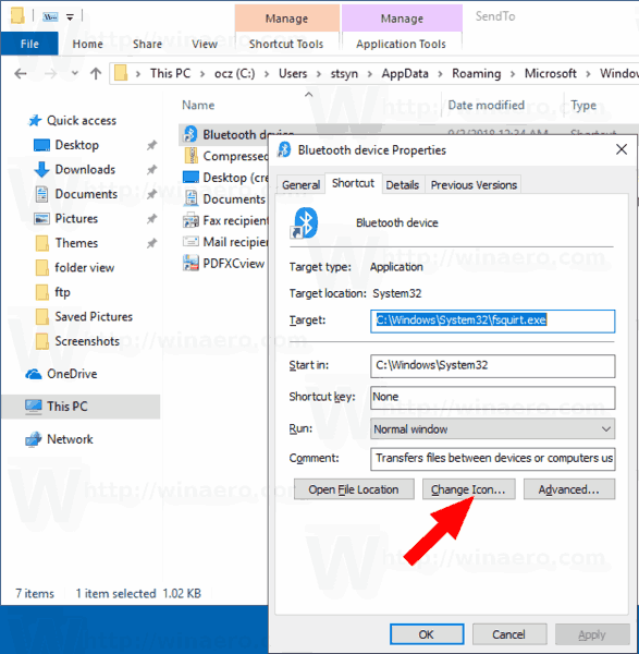 Customize Send To Menu Icons In Windows 10