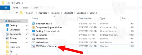 Windows 10 Send To Extra Shortcut