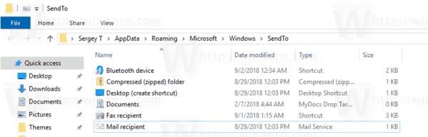 Windows 10 Send To Icons