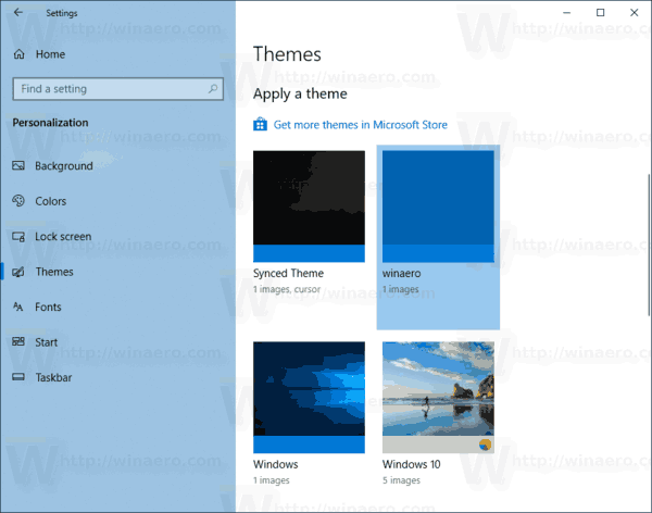Windows 10 Themes In Settings
