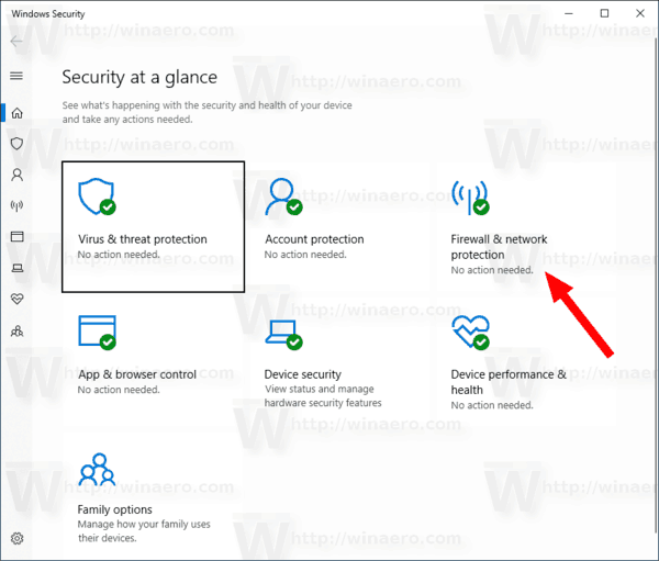 Windows 10 Windows Security Network