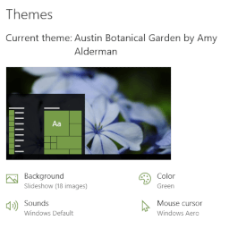 Austin Botanical Garden theme for Windows 10, Windows 8 and Windows 7