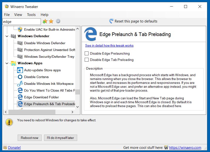 Edge Preloading