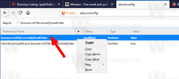 Firefox 63 Disable Ctrl Tab About Config