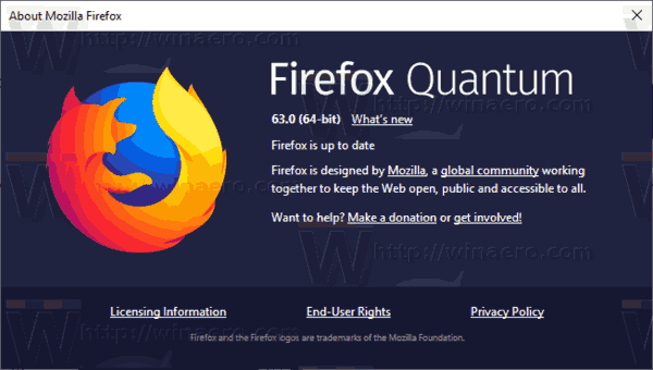 Firefox 63 About