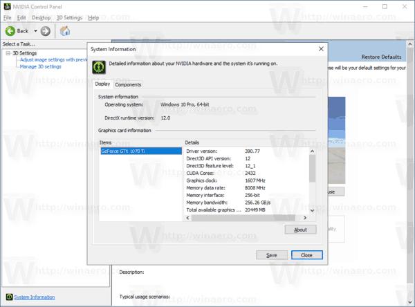 Unblock NVIDIA Control Panel Store App in Windows 10