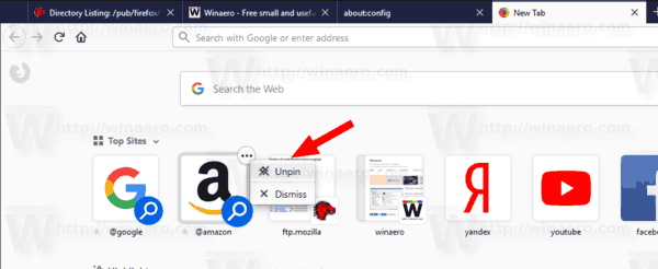 Remove Search Shortcuts Firefox