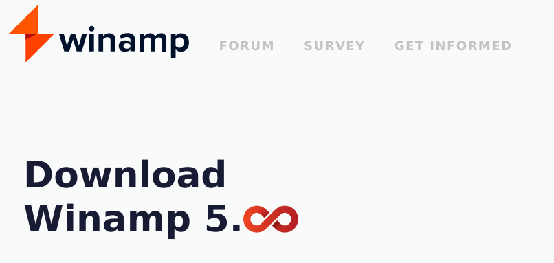 Winamp 5.8 Beta Official Logo