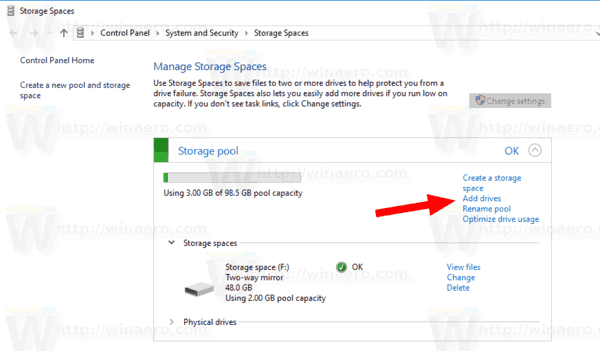 Windows 10 Add Drive To Storage Space