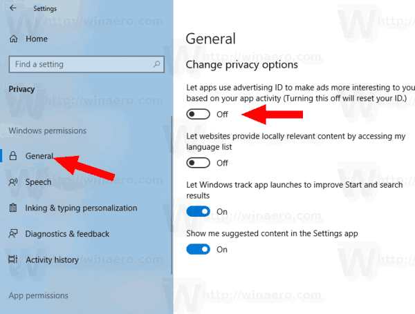 Windows 10 Disable Advertising ID For Relevant Ads