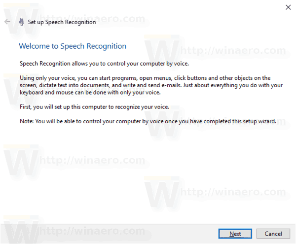 Windows 10 Enable Speech Recognition Step 1