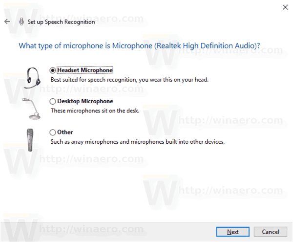 Windows 10 Enable Speech Recognition Step 2